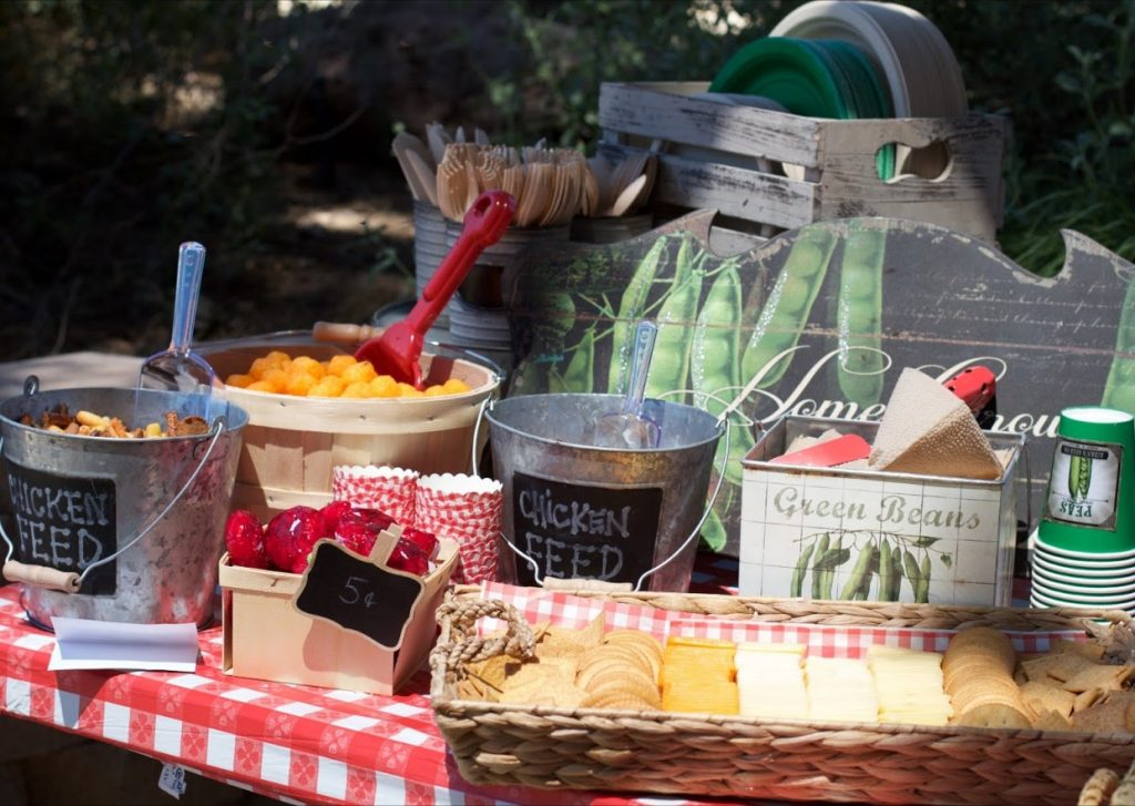 Farmers Market Party Food Table