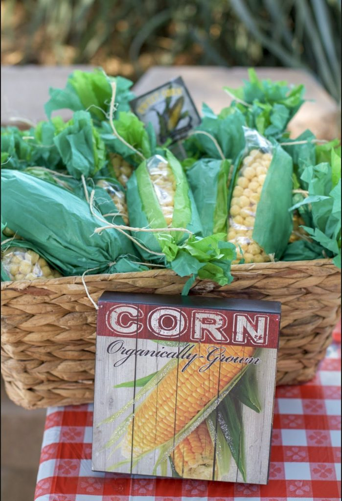 Fun ideas for a Farmers Market Themed Birthday Party - popcorn