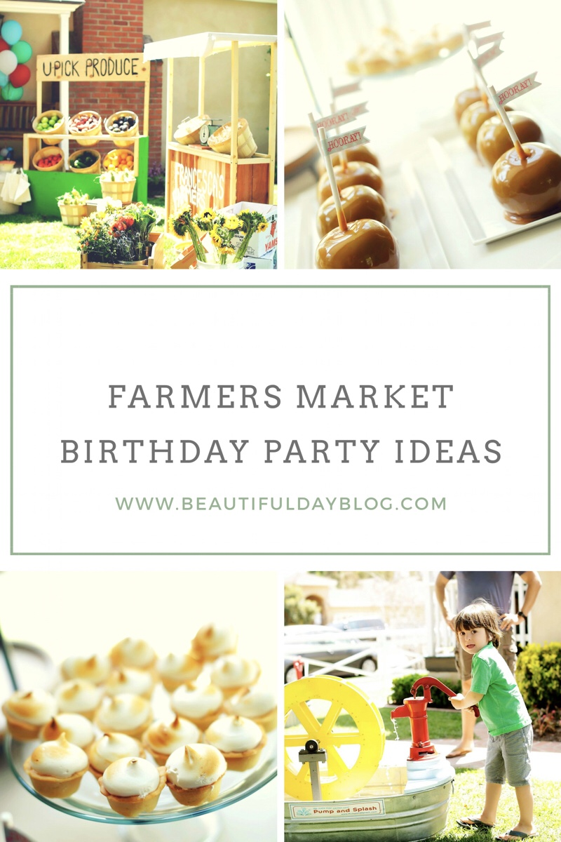 Farmers Market Birthday Party Ideas and Inspo Pics Pinterest Worthy