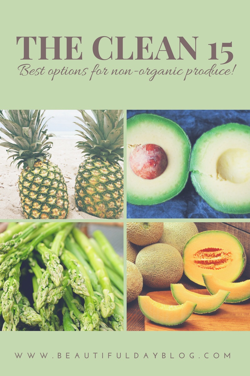 The Clean 15 Best Options for non-organic porduce