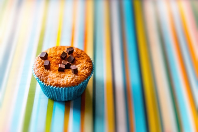 healthy chocolate chip sweet potato muffins