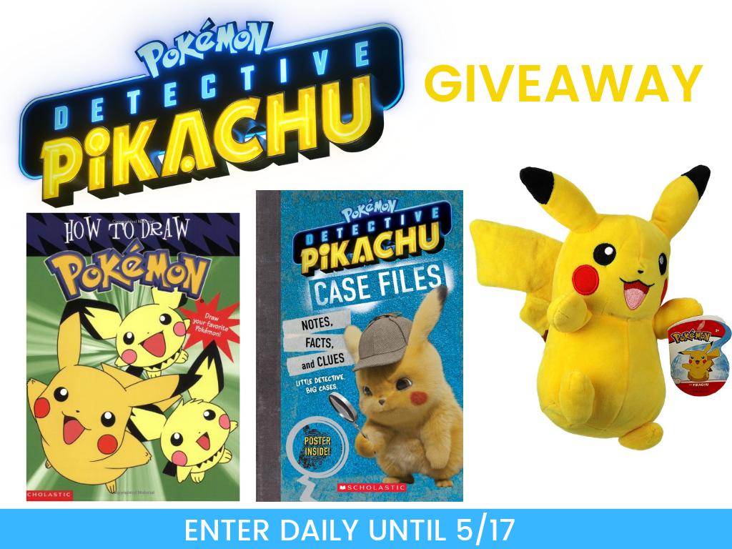 Detective Pikachu Giveaway Free Freebies Contest Movie Pokemon