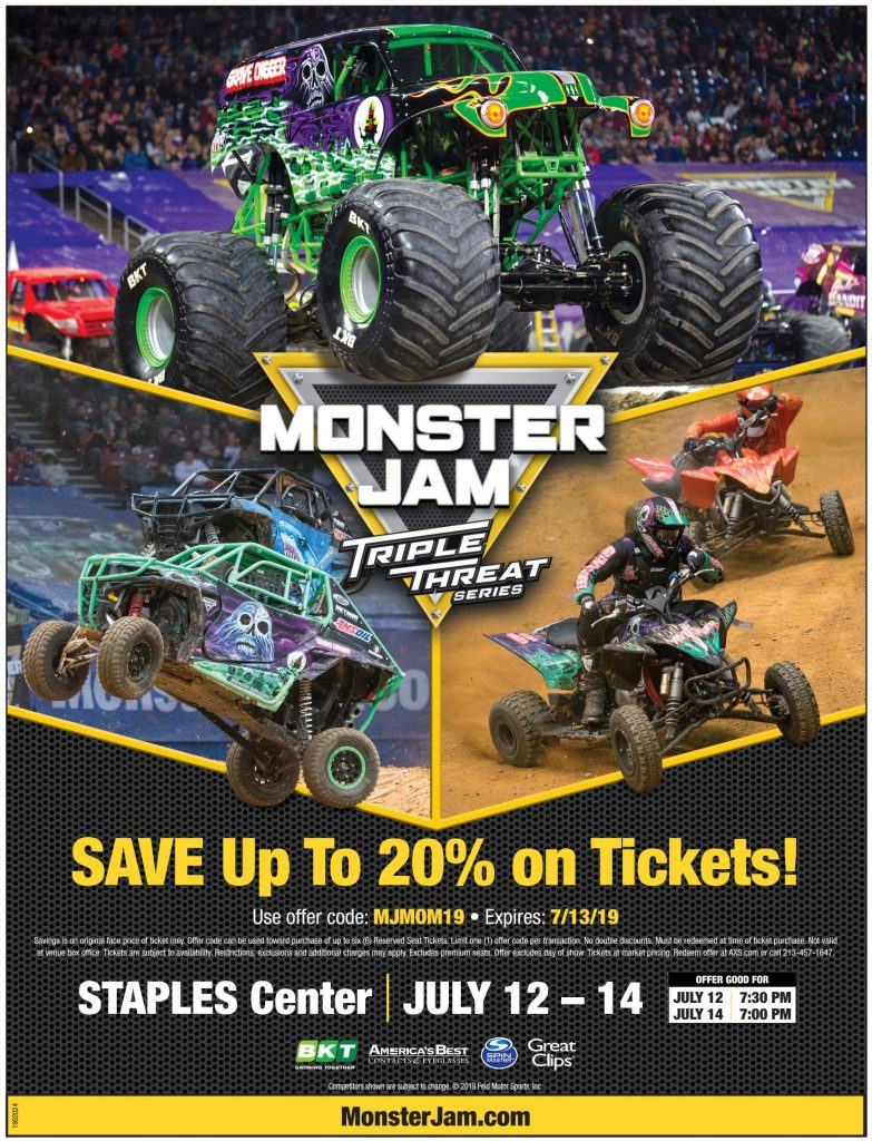 Discount Code Monster Jam Triple Threat Series 2019
