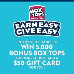 Box Tops for Education Bonus