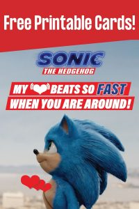 Free Sonic Valentines Day Cards