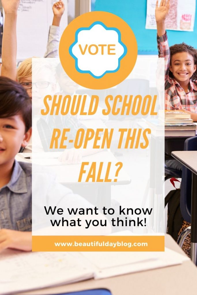 Vote Today - Should Schools Reopen For Fall?