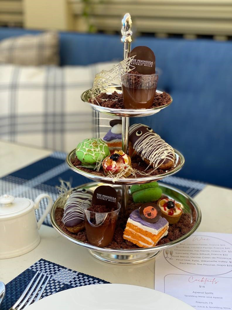 Halloween Events in Los Angeles 2020 now include Halloween Afternoon Tea at the Living Room at The Peninsula Beverly Hills.